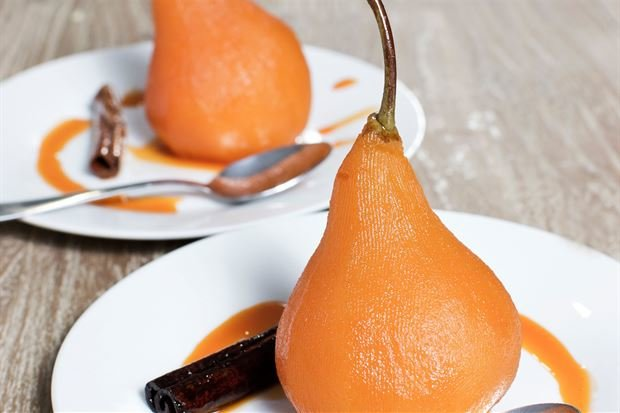 Earl Grey Poached Pears