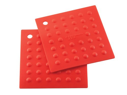 Silicone Red Trivets (Set of 2)